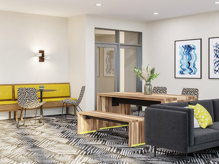 Resident Lounge at Link Apartments® Linden, Chapel Hill
