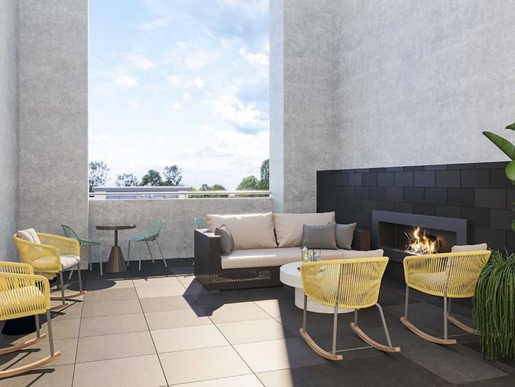 Outdoor-Lounge at Link Apartments® Linden, Chapel Hill, North Carolina