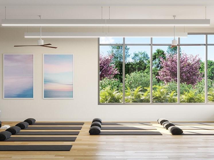 Yoga_Studio_and_TRX at Link Apartments® Linden, Chapel Hill, 27517