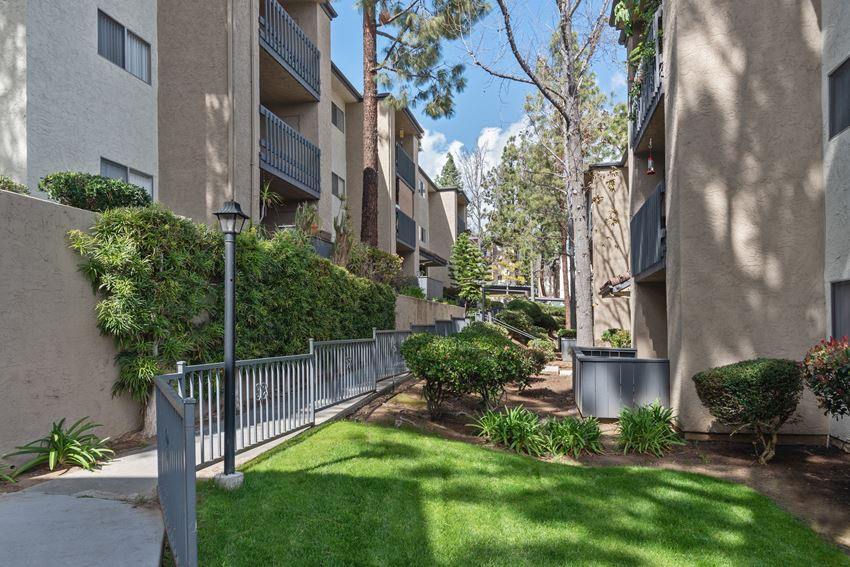 manicured lawns at Terrace Gardens Apartment Homes, Escondido, CA