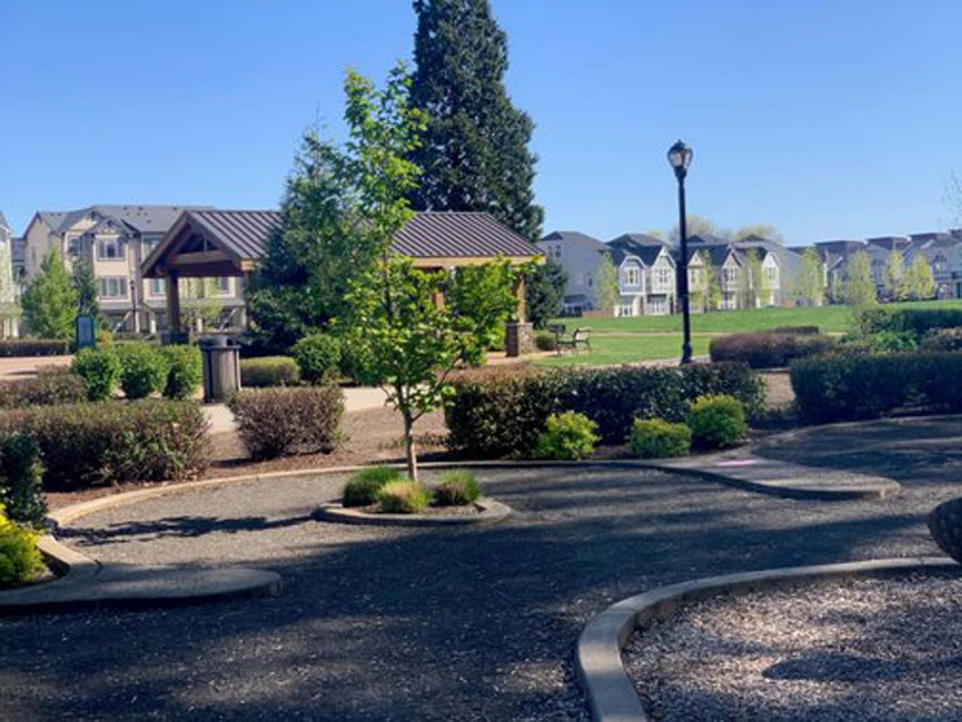 Safe Outdoor Walking Paths at Domaine at Villebois Apartment Homes, Wilsonville, Oregon