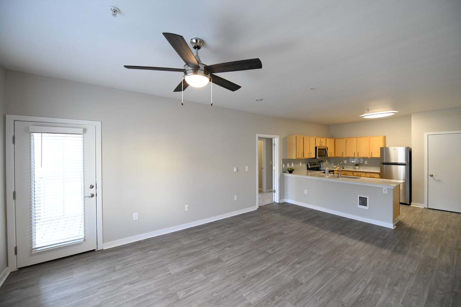 Wood Inspired Plank Flooring at Domaine at Villebois Apartment Homes, Wilsonville