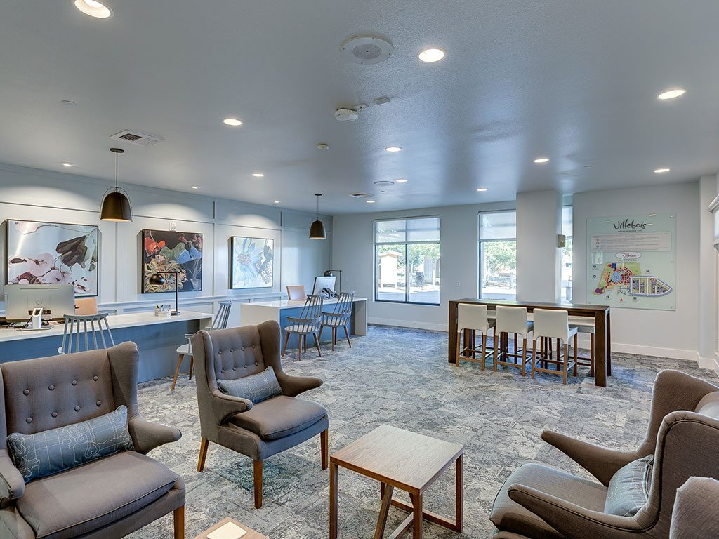 Elegant Social Room and Coffee Bar at Domaine at Villebois Apartment Homes, Wilsonville, 97070