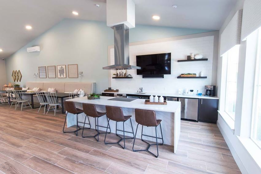 Island Seating Area at Hearth Apartment Homes