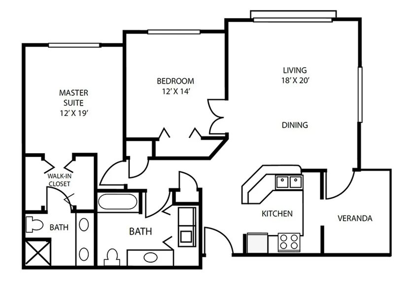 Floor Plan 19 at Pallas Townhomes & Apartments