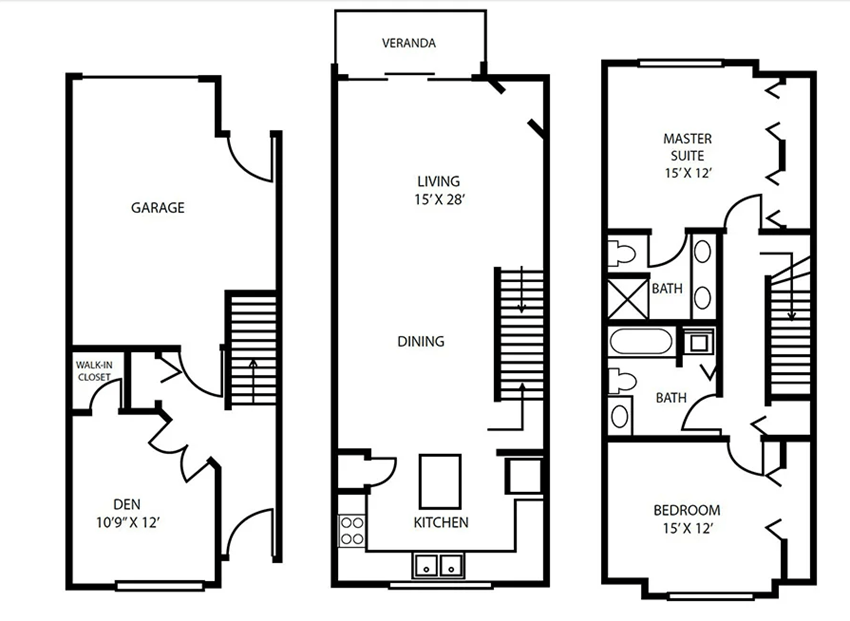 Floor Plan 16 at Pallas Townhomes & Apartments