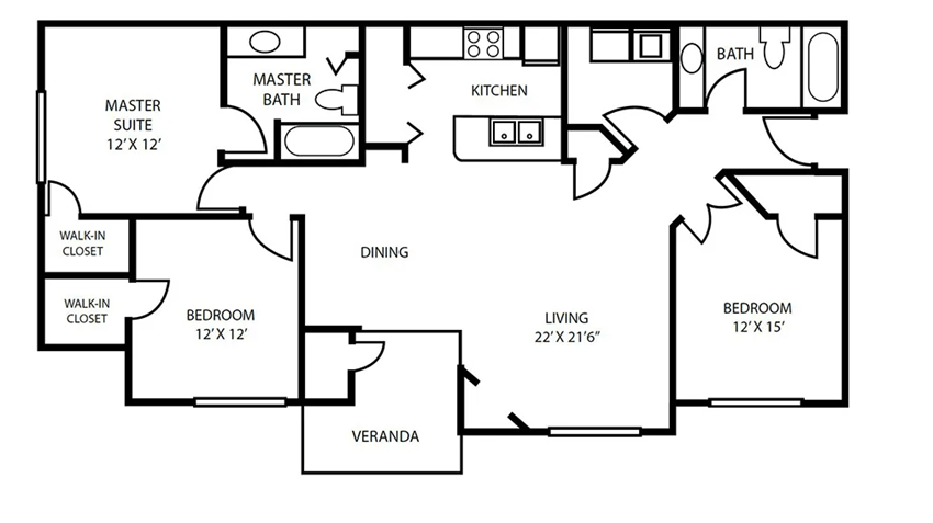 Floor Plan 7 at Pallas Townhomes & Apartments