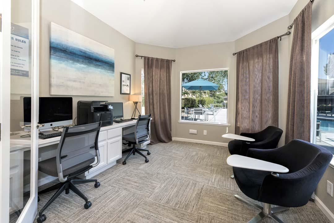 Business Center With Computers at Atwood Apartments, Citrus Heights, CA