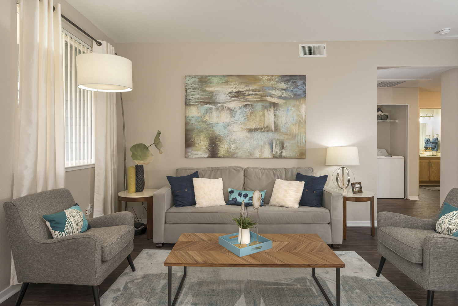 Modern Living Room at Atwood Apartments, Citrus Heights, CA