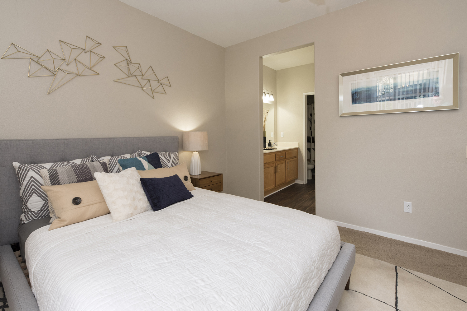 Master Bedroom at Atwood Apartments, Citrus Heights, California