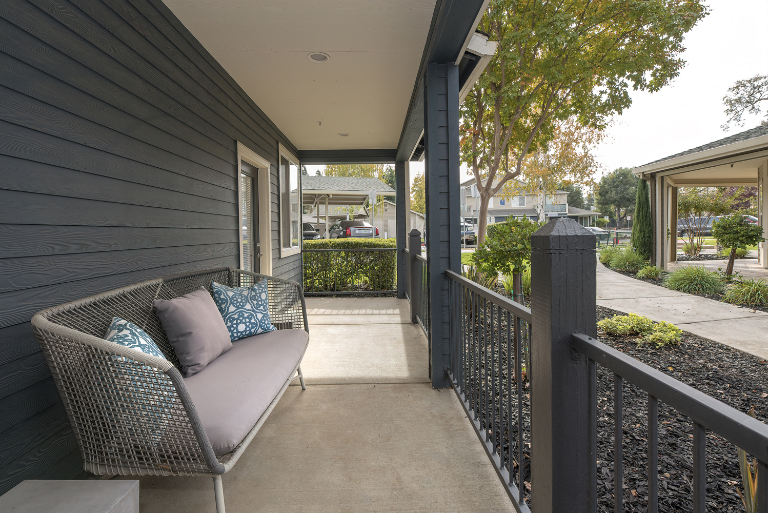 Private Balcony With Seating at Atwood Apartments, Citrus Heights