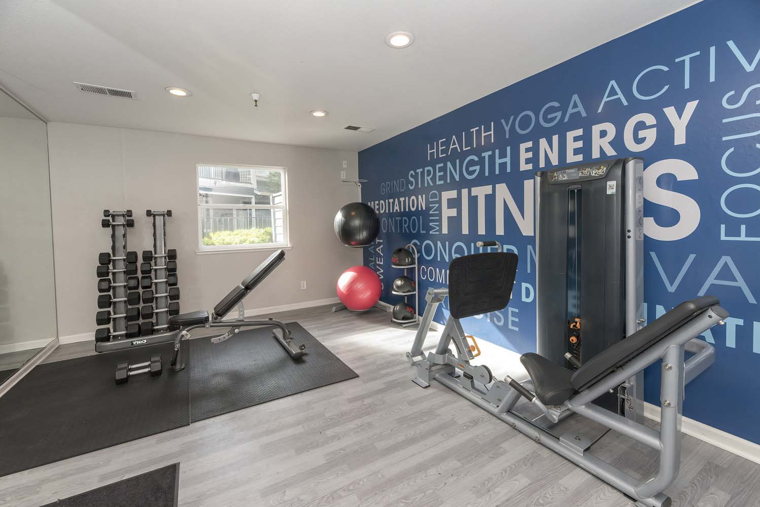 Fitness Center With Modern Equipment at Atwood Apartments, California, 95610