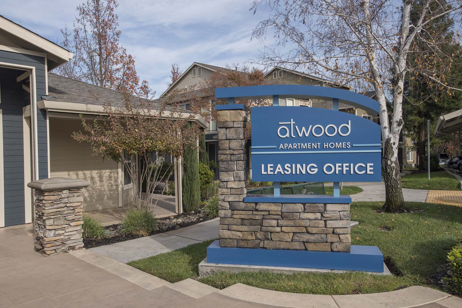 Leasing Center External View at Atwood Apartments, Citrus Heights, California