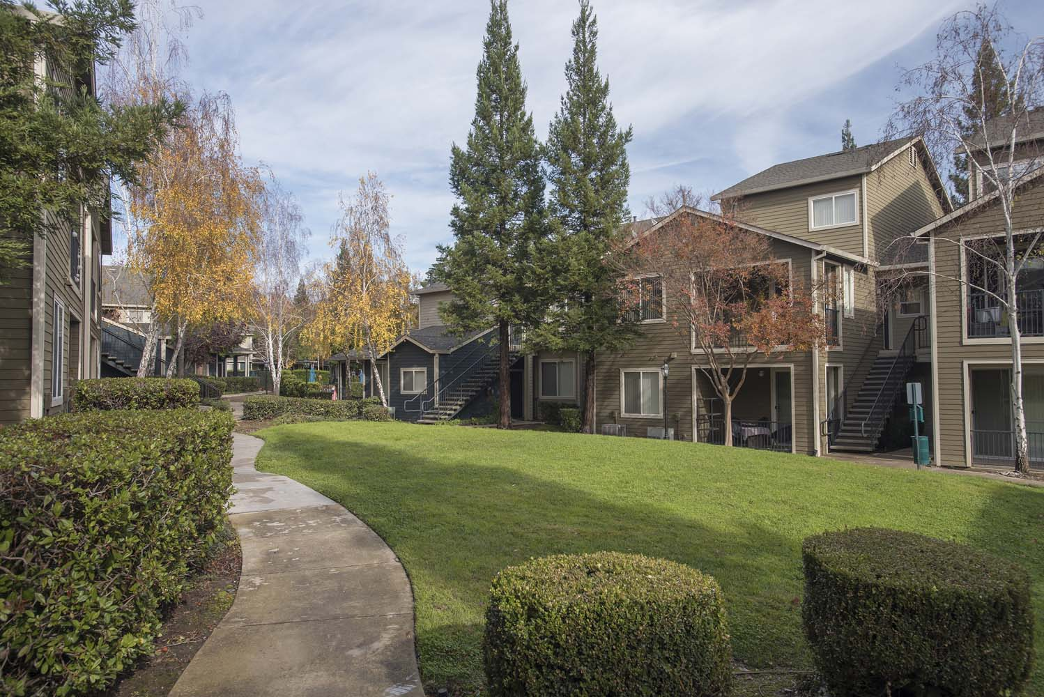 Green Space Walking Trails at Atwood Apartments, California