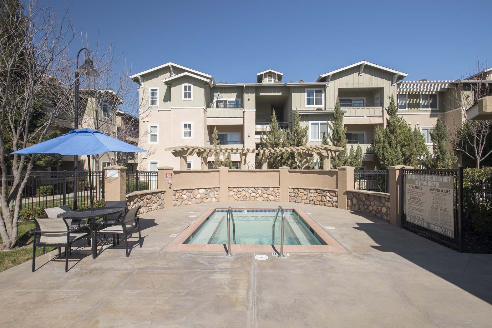 Year-Round Hot Tub at Waterstone Apartment Homes, Tracy, CA, 95377