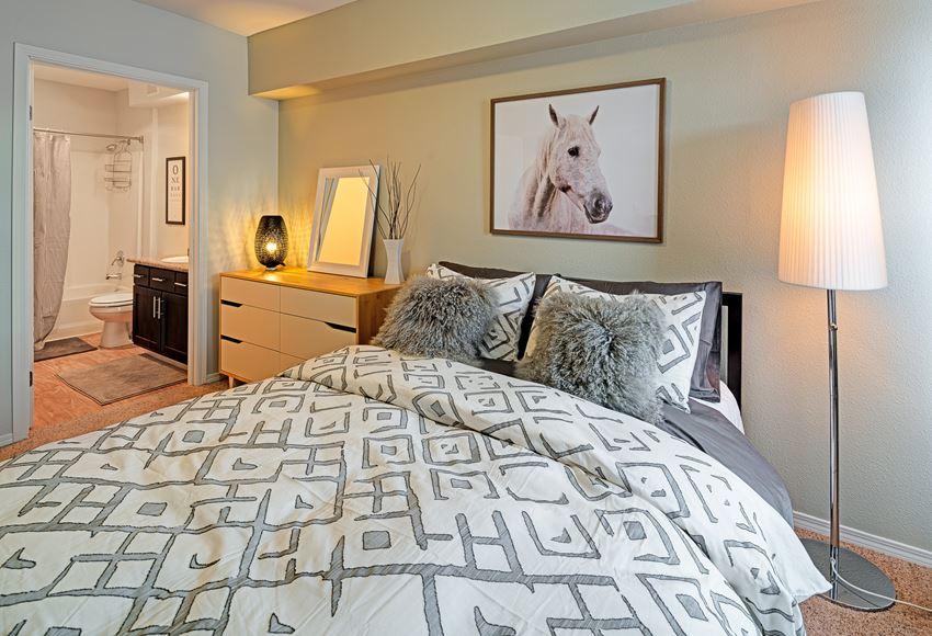 Master Bedroom at Axcess 15 Apartments