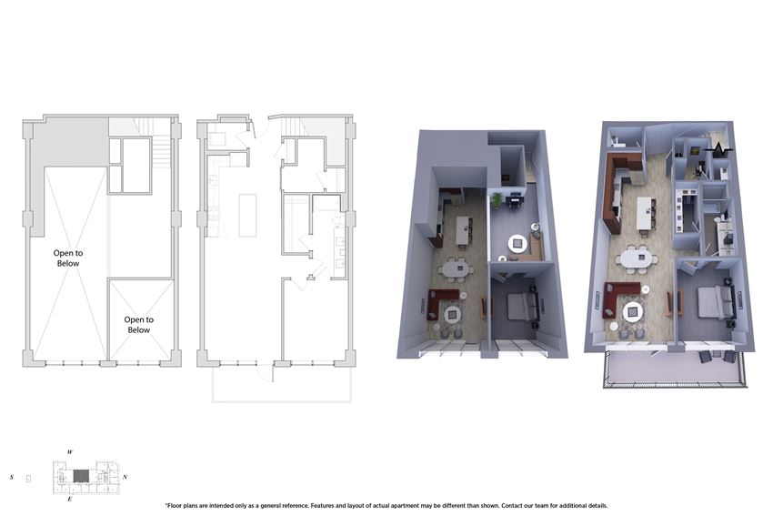 1 Bedroom Penthouse 1M.4 Floor Plan - Bromwell