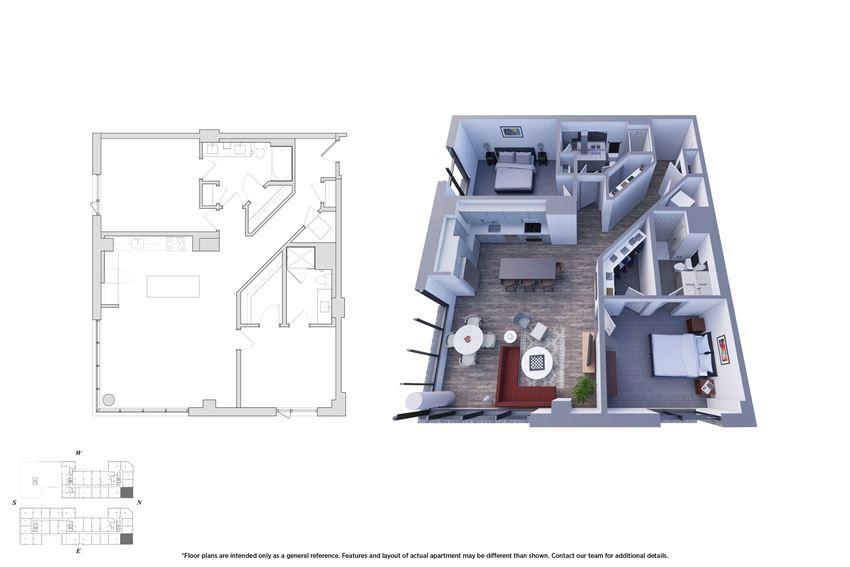2 Bedroom 2.3 Floor Plan - Bromwell