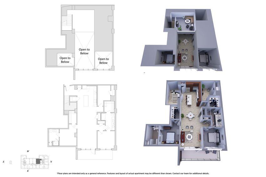 2 Bedroom Penthouse 2M.4 Floor Plan - Bromwell