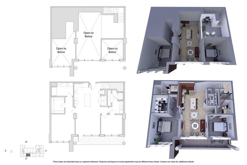 2 Bedroom Penthouse 2M.6B Floor Plan - Bromwell