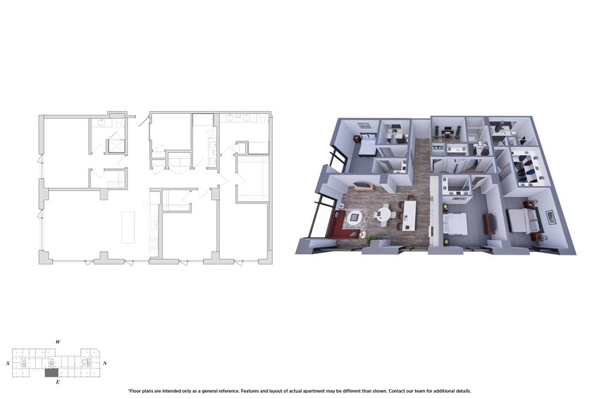 3 Bedroom Den 3.1 Floor Plan - Bromwell