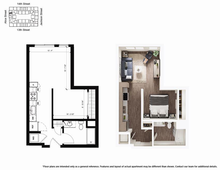 Studio S2 Floor Plan - Lydian