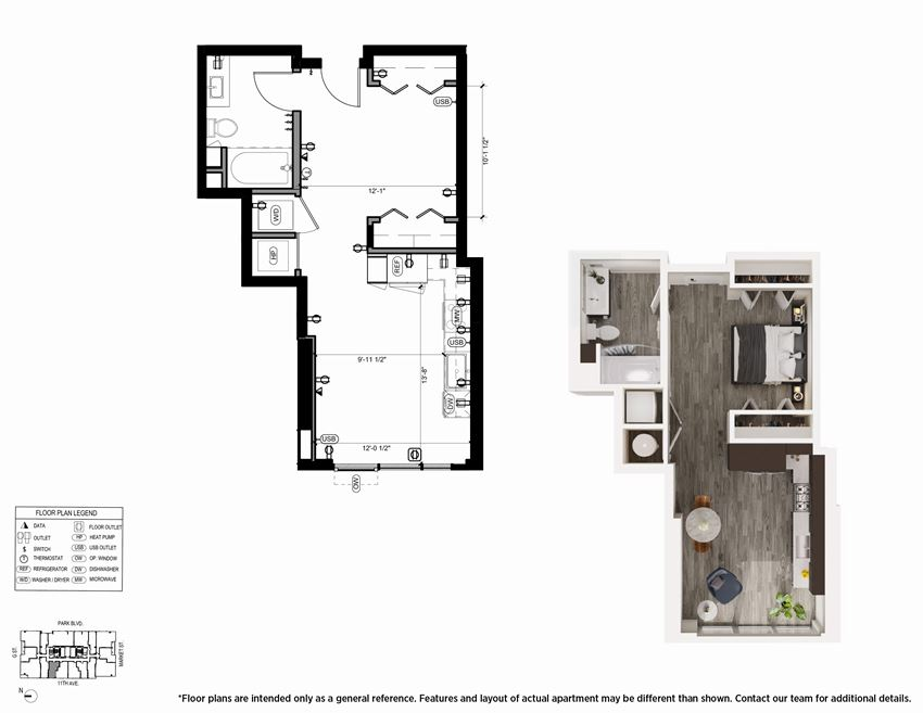 Urban S1 Floor Plan - The Merian