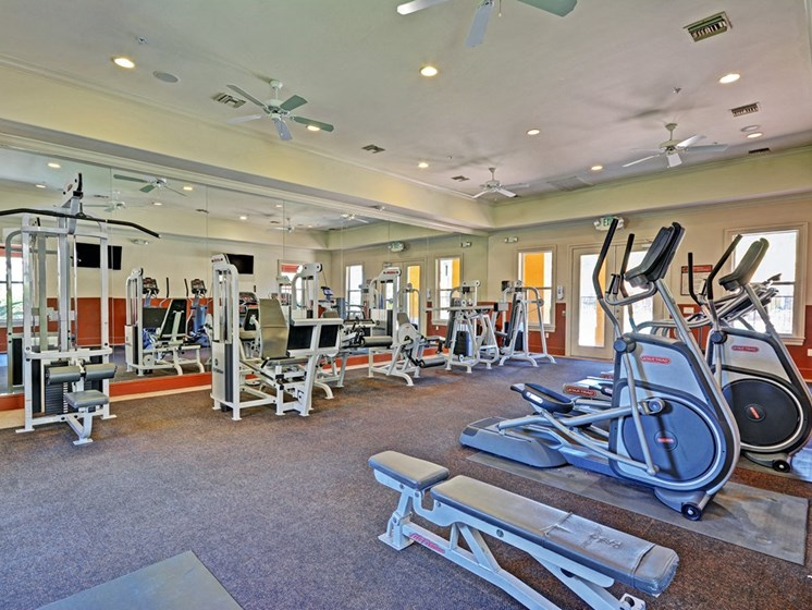 Fitness Center with Free Weight, at Missions at Sunbow Apartments, Chula Vista, CA