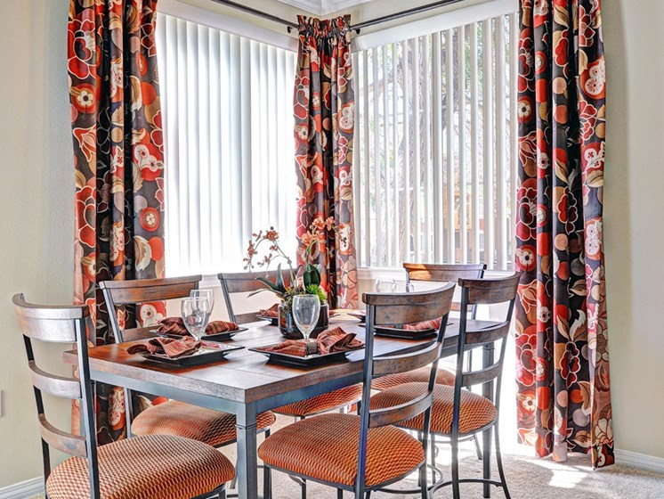Defined Dining Space, at Missions at Sunbow Apartments, Chula Vista, California