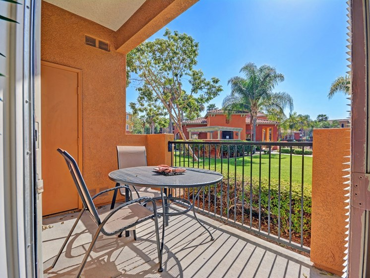 Screened Patio/Balcony, at Missions at Sunbow Apartments, 5540 Ocean Gate Lane