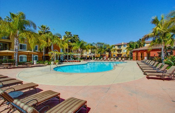 Pool Deck, at Missions at Sunbow Apartments, 5540 Ocean Gate Lane, CA