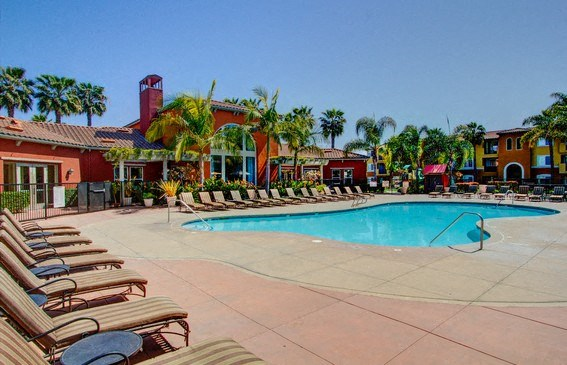 Poolside Entertainment Area, at Missions at Sunbow Apartments, 5540 Ocean Gate Lane