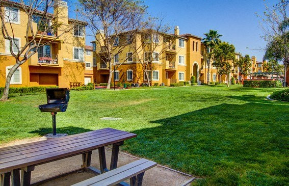 Outdoor Relaxing Area, at Missions at Sunbow Apartments, Chula Vista, California