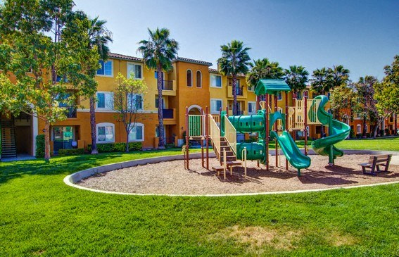 On-site Tot Lot, at Missions at Sunbow Apartments, 5540 Ocean Gate Lane, CA
