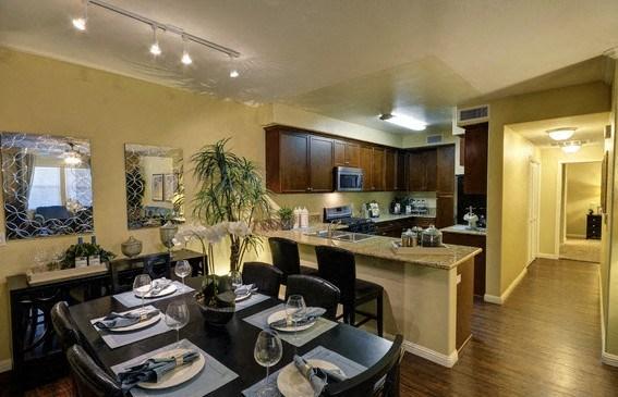 Lighted Dining Area, at Rosina Vista, CA, 91913
