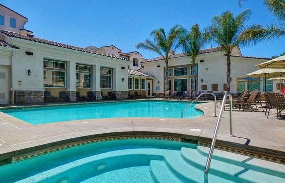 Shimmering Heated Pool with Cabanas, at Rosina Vista, Chula Vista, CA