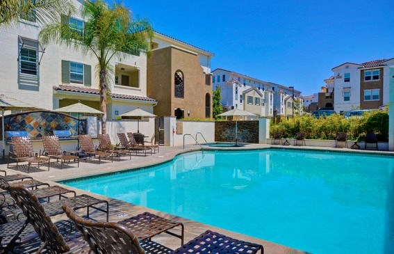 New Pool and Spa areas with a Resort Style Experience, at Rosina Vista, Chula Vista, 91913