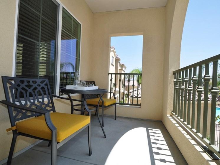 Oversized Private Patios & Balconies, at Tavera, 1465 Santa Victoria Rd, CA