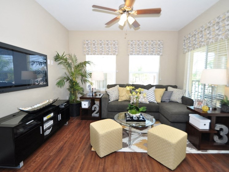 Ceiling Fans in the Living Room & Master Bedrooms, at Tavera, CA, 91913
