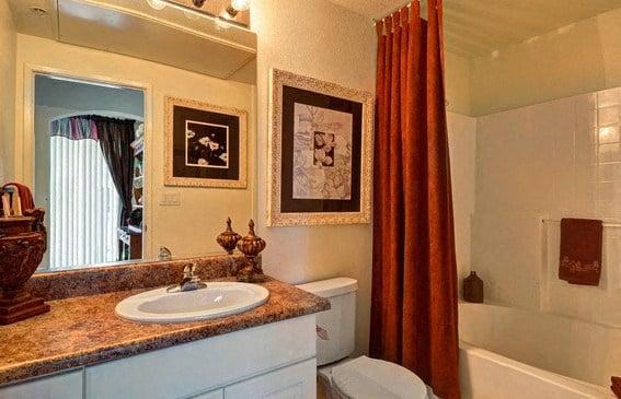 Designer Granite Countertops in all Bathrooms, at Casoleil, 1100 Dennery Rd, CA