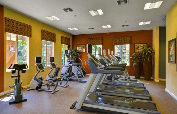 Fitness Center with Cardio Equipment And Free Weights, at Casoleil, San Diego, CA