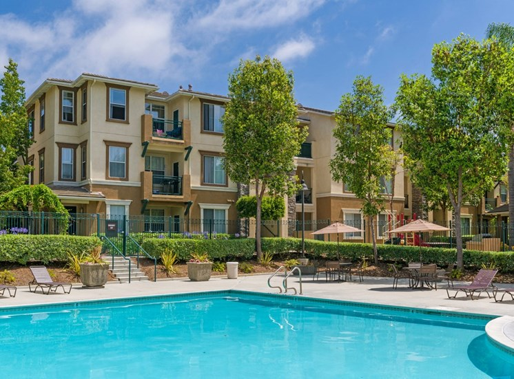 Pool With Sunning Deck at Terra Vista, California, 91913