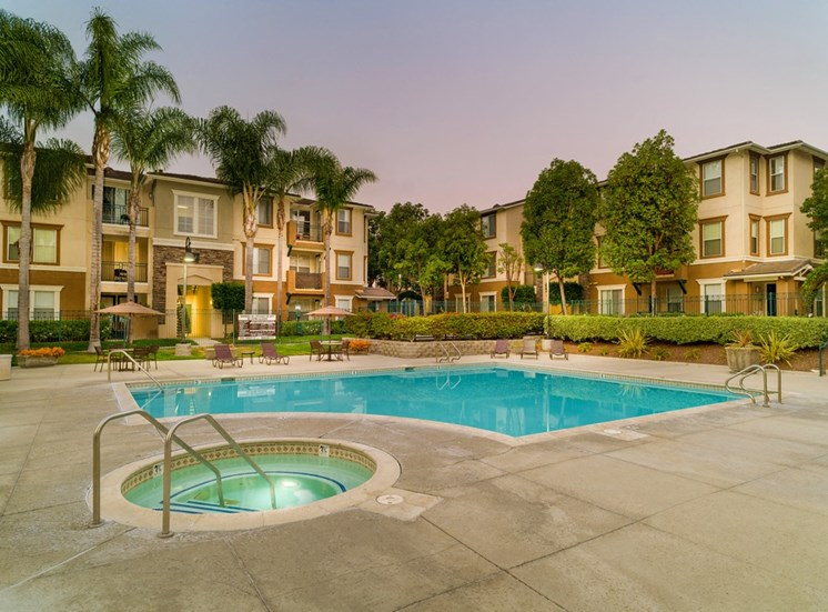 Swimming Pool And Hot Tub at Terra Vista, California