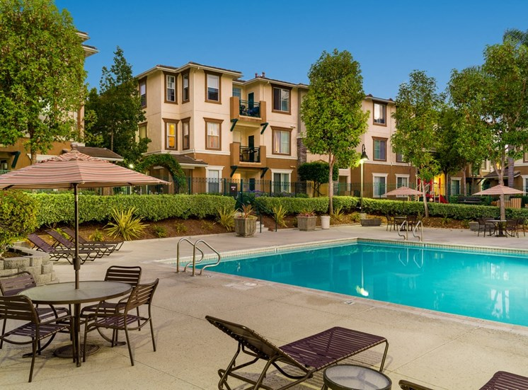 Pool Side Relaxing Area With Sundeck at Terra Vista, Chula Vista, 91913