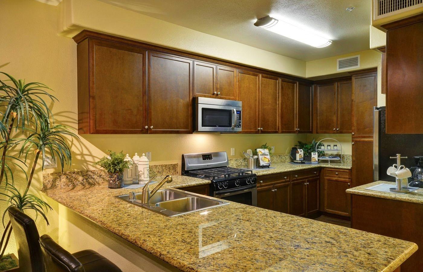 Natural Wood Cabinets and Pantry, at Rosina Vista, CA, 91913