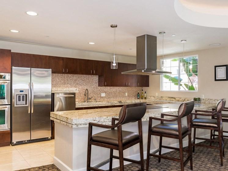 Clubroom with Gourmet Kitchen, at Greenfield Village, 5540 Ocean Gate Lane, San Diego