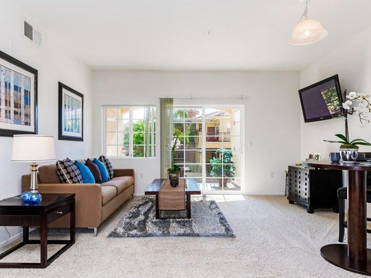 Ceiling Fan In Living Room, at Greenfield Village, 5540 Ocean Gate Lane, San Diego