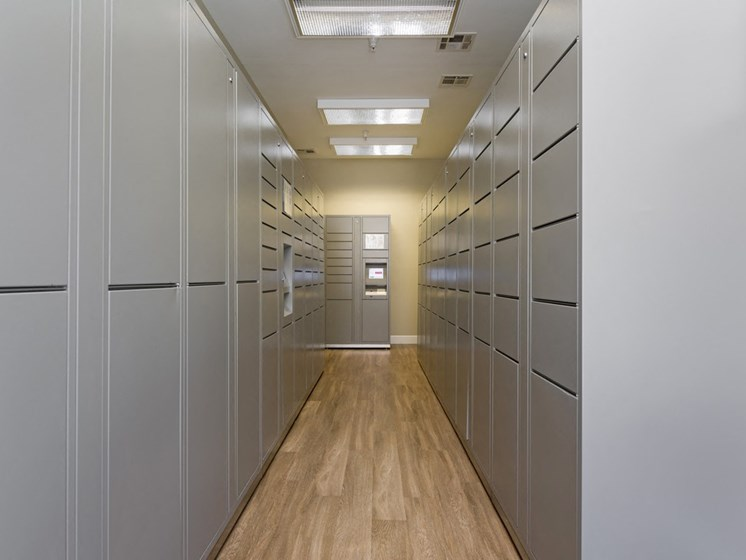 24 Hour Package Lockers at Greenfield Village, California