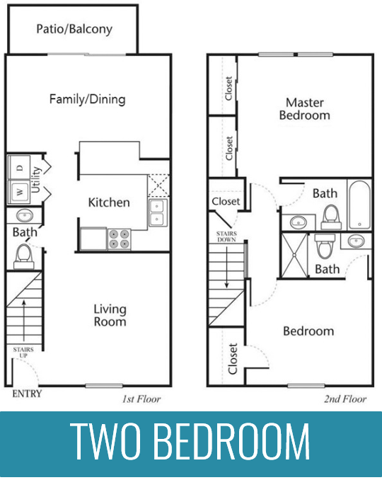 Two bedroom two and a half bathroom 1200 square foot apartment home at The Jameson Apartments, Homewood, Alabama