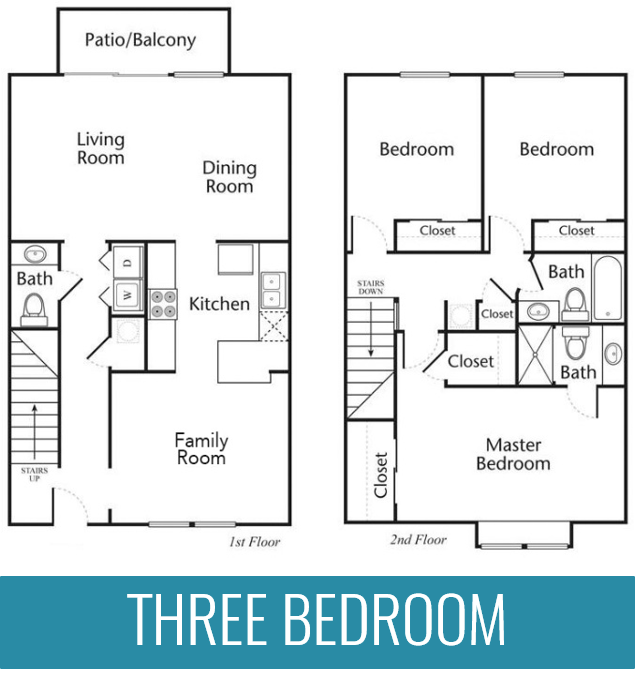 Three bedroom apartment home at The Jameson Apartments, Homewood